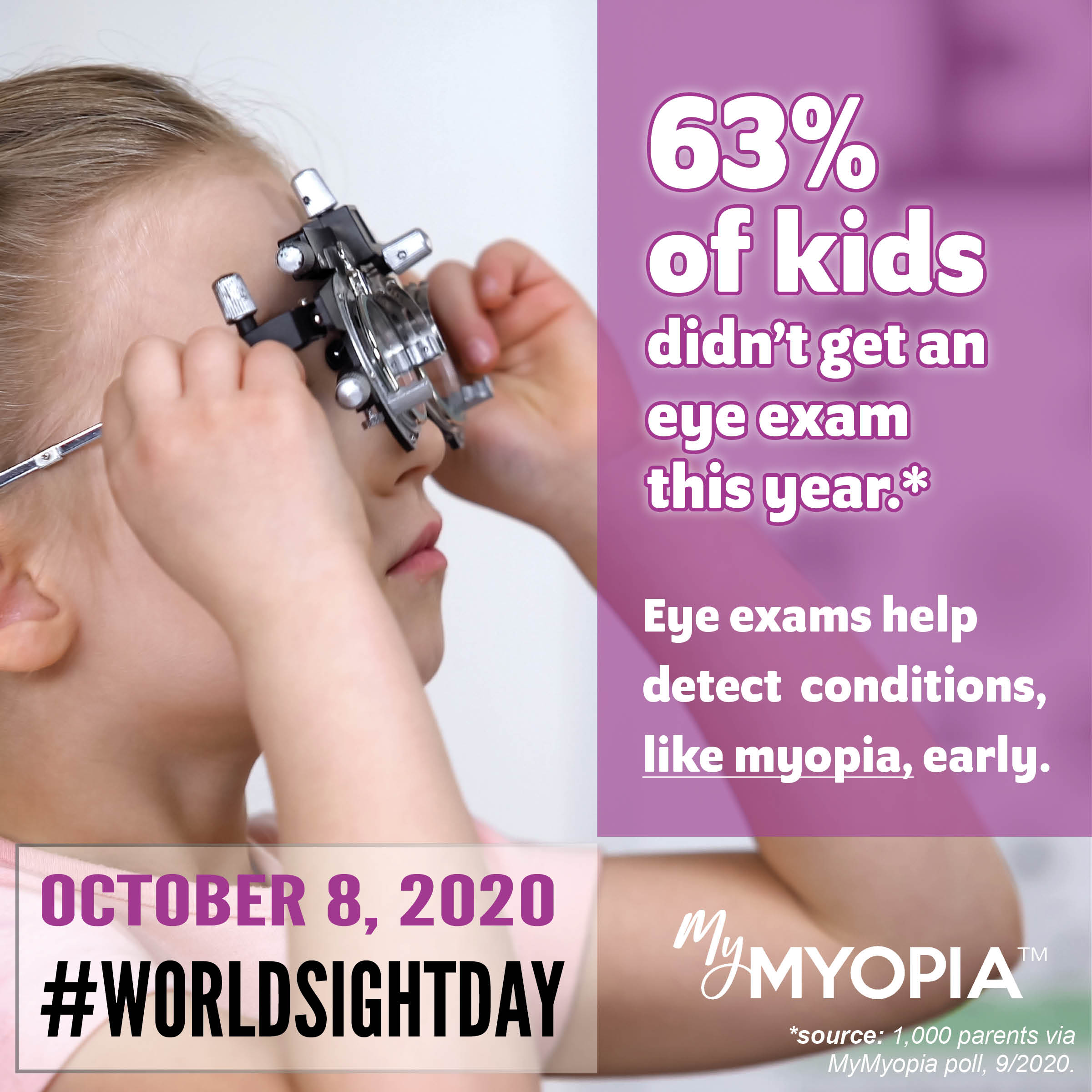 World Sight Day 2020 63% of kids didn't get an eye exam this year