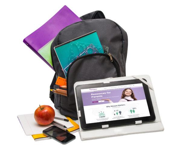 Myopia back to school backpack